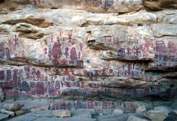 Rock Paintings Near Dogon